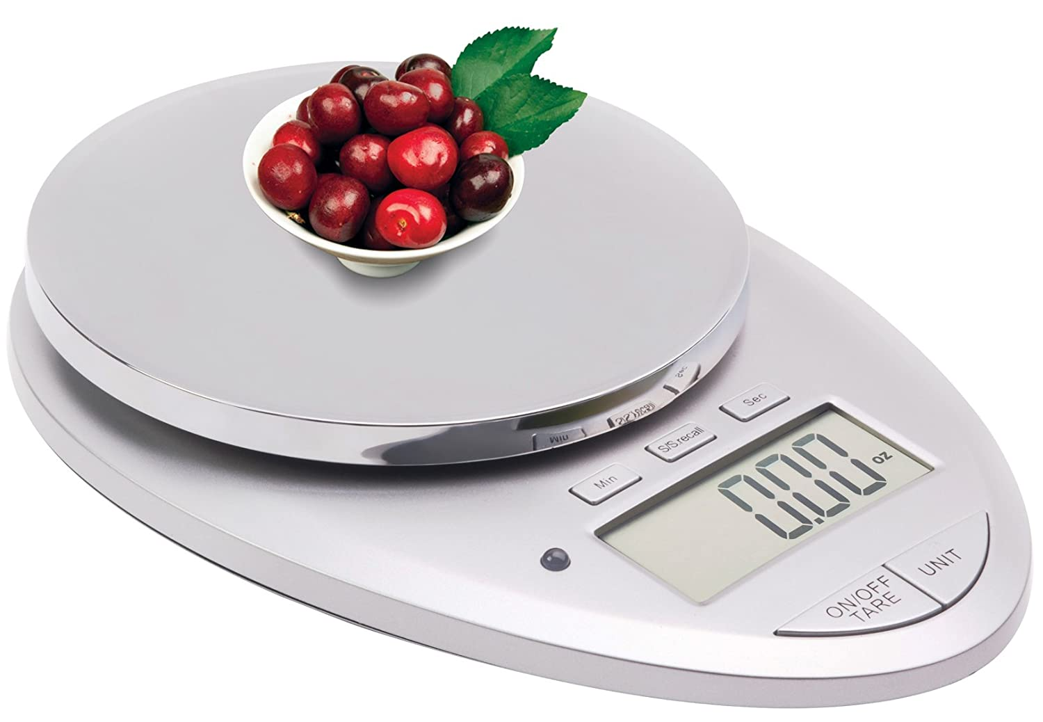 Ozeri Pro II Digital Kitchen Scale in Elegant Chrome, 1g to 12 lbs Capacity, with Countdown Kitchen Timer $19.95