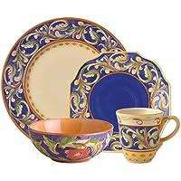 Pfaltzgraff Villa Della Luna 16 Piece Blue Dinnerware Set