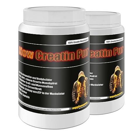 New Creatin Pur 2x500g Dose Kreatin Monohydrat Aminosäuren Anabolika schneller Kraft- und Masseaufbau