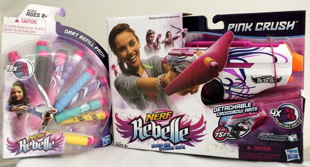Nerf Rebelle Blaster Pink Crush (Pack of 2) оружие игрушечное hasbro hasbro бластер nerf n strike mega rotofury