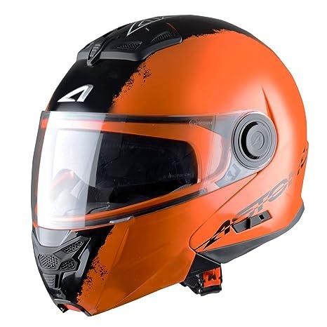 Astone Helmets RT800EX-STRIPES-BRL Casque Modulable RT800 Stripes Orange Taille L