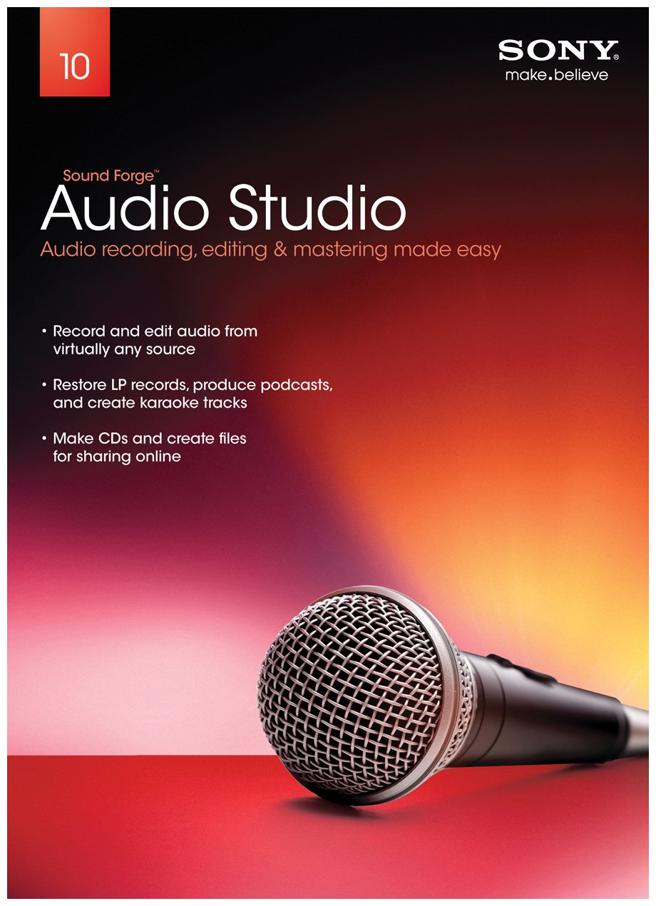 Sony Creative Software Sound Forge Audio Studio 10 – 2011 [Old Version]