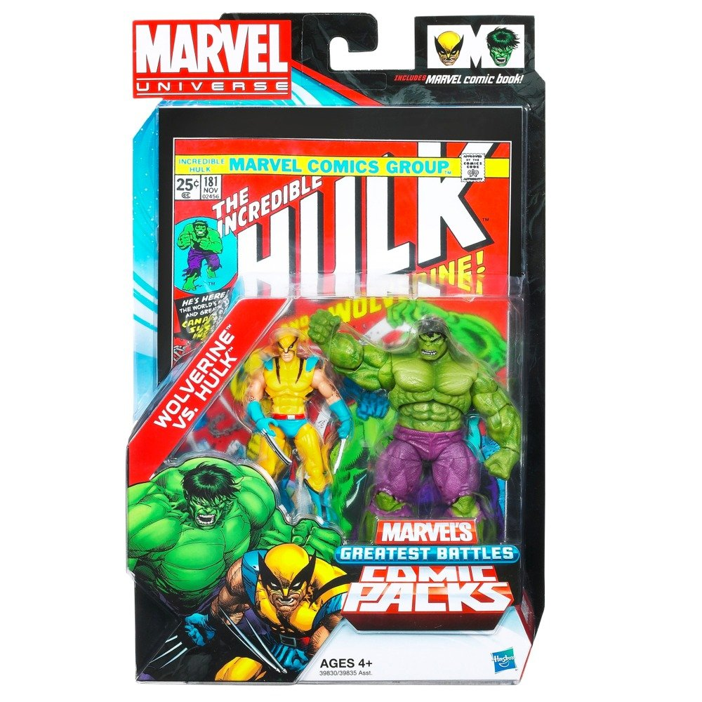 Marvel Universe Comic Pack – Wolverine vs. Hulk Figuren [UK Import] günstig