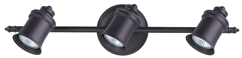 canarm it299a03orb10 taylor 3 bulb wall mount track light. Black Bedroom Furniture Sets. Home Design Ideas