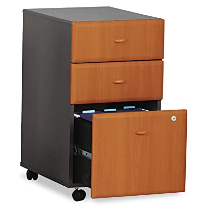 "3-Drawer Ped.,Box/Box/File,15-5/8""x20-3/8""x28-1/4"",NLCY/SLT, Sold as 1 Each"