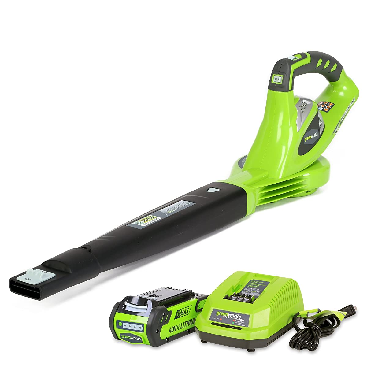 Greenworks 40V 150 MPH Variable Speed Cordless Blower, 2.0 AH Battery Included 24252