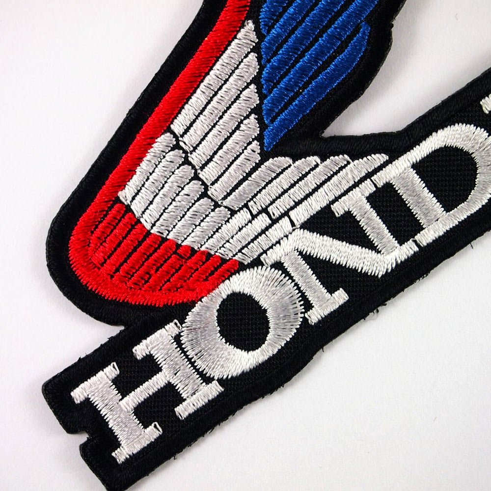 HONDA WING RACING MOTORCYCLES BIKER JACKET VINTAGE EMBROIDERED IRON ON PATCHES 1