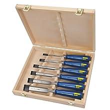 IRWIN Tools Marples Woodworking Chisels, 6-Piece Set, Boxed (M444SB6N)