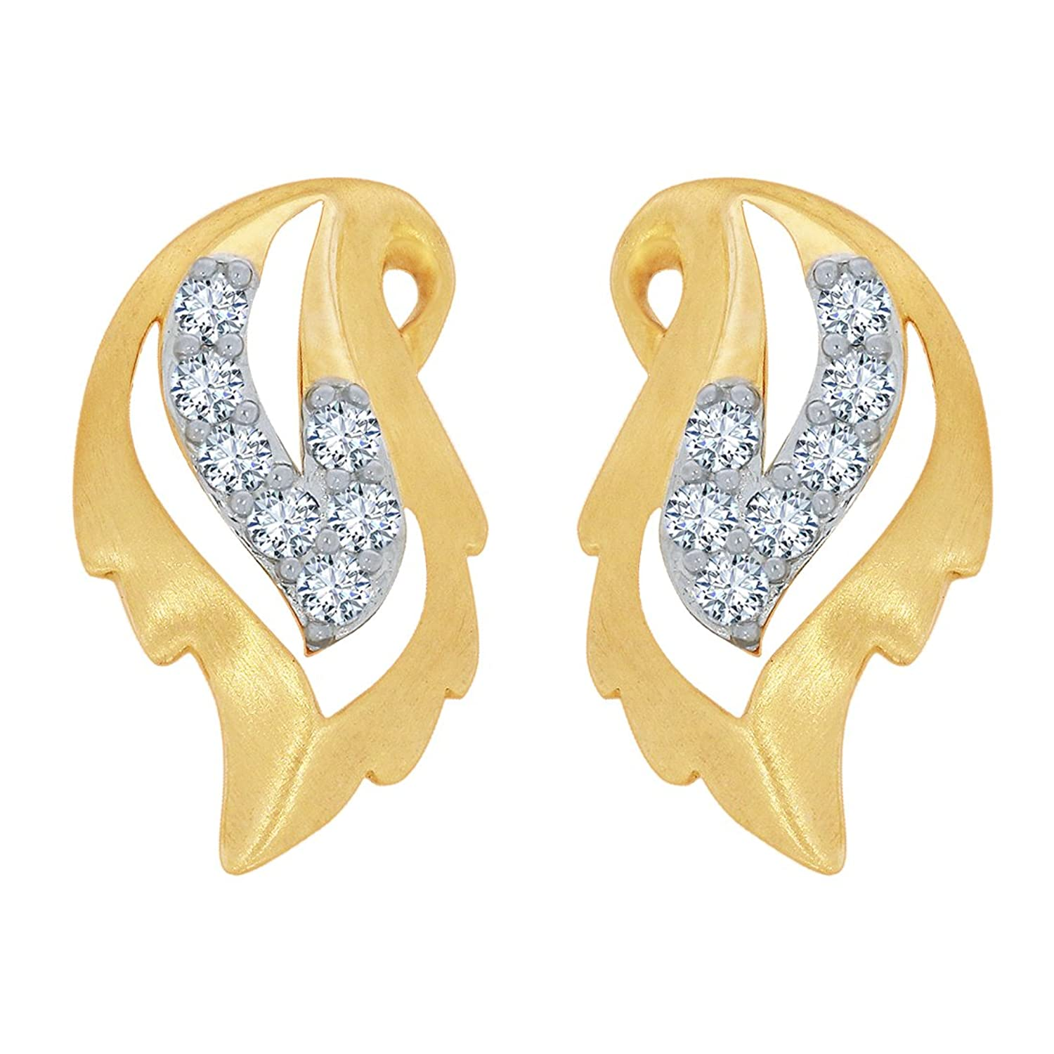 Upto 10% Off On 22K Gold & Diamond Jewelry By Amazon | Kalyan Jewellers 18KT Yellow Gold and Diamond Stud Earring for Women @ Rs.20,925