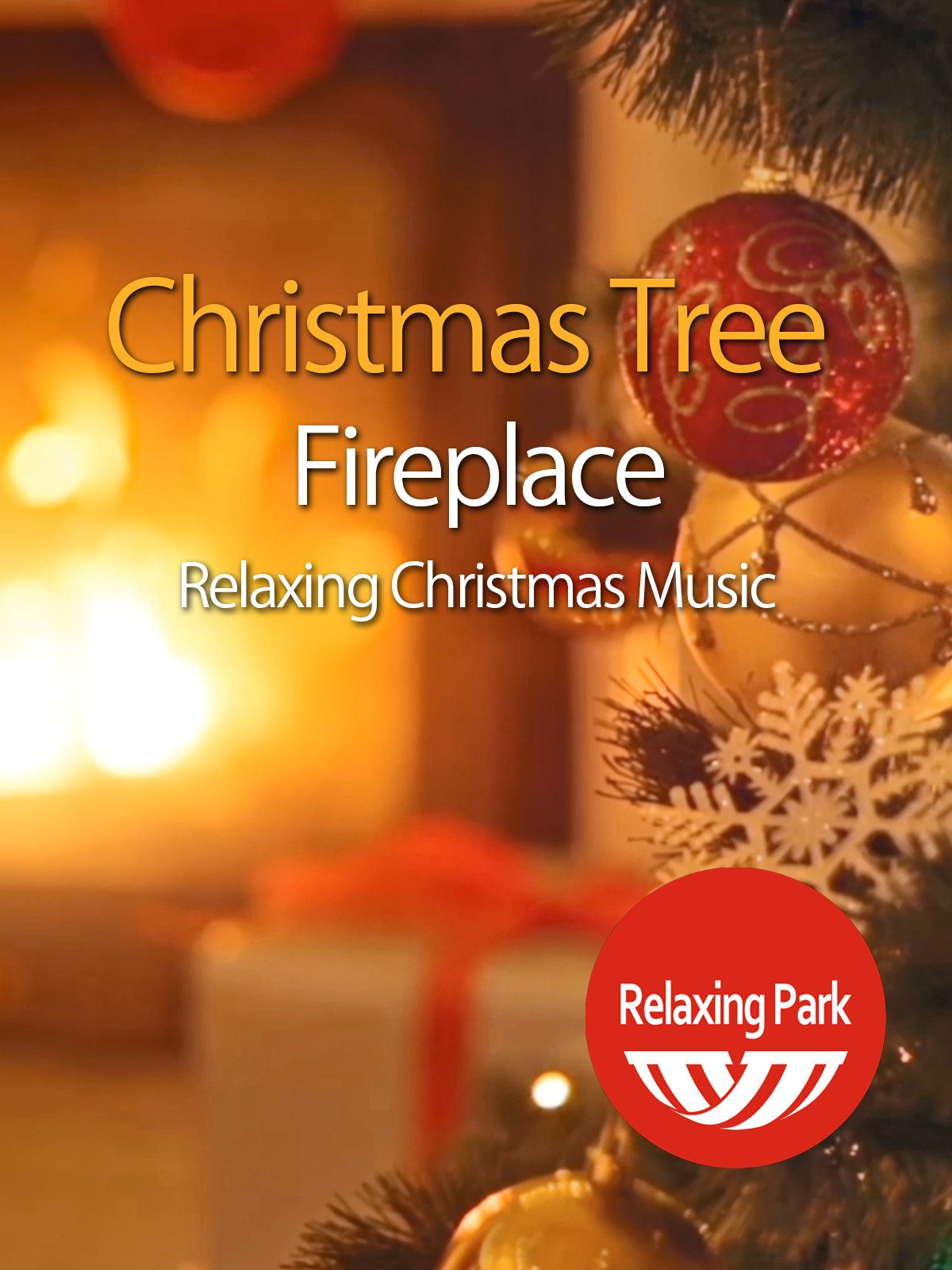 Christmas Tree Fireplace & Relaxing Christmas Music