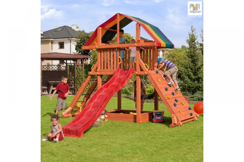 Fungoo ® Rocket Spielturm mit Rutsche Farbe blaue Rutsche online kaufen