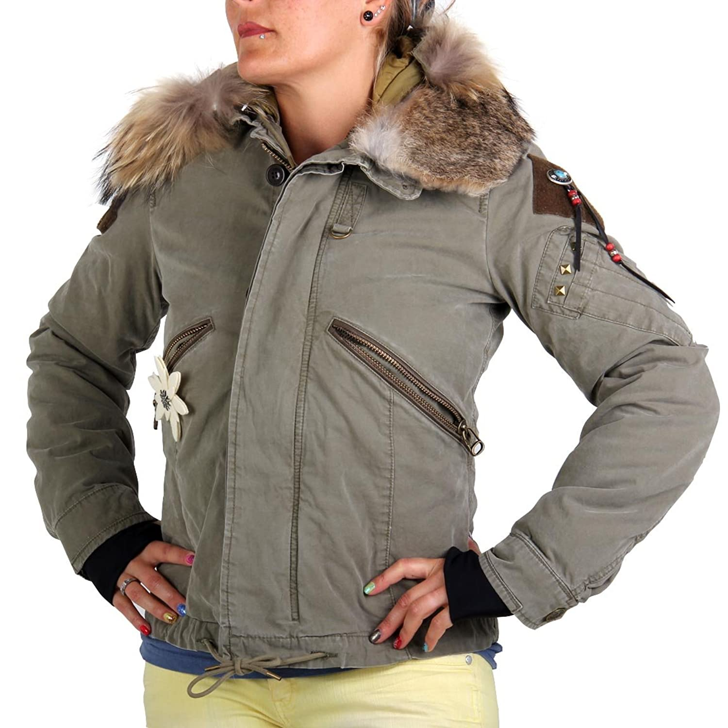 HELL IS FOR HEROES by PARAJUMPERS Damenjacke Diamond Bar Army günstig