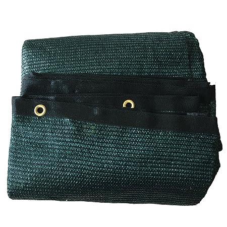 70% vela para invernadero (filete de toldo cortavientos y sol con anillas negro verde–ShadeCloth, plástico, verde, 20ft*48ft