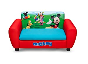 Disney Mickey Mouse Upholstered Storage Sofa       BabyCustomer reviews and more information