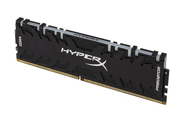 HyperX Predator DDR4 RGB 64GB Kit 3000MHz CL15 DIMM XMP RAM Memory/Infrared Sync Technology- Black (HX430C15PB3AK4/64) (Tamaño: 64GB Kit (4 x 16GB))