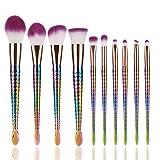 Professional Makeup Brush Set Makeup Brushes for Facial and Brow & Lip Makeup by TOPUNDER V (Color: Multicolor, Tamaño: Long)