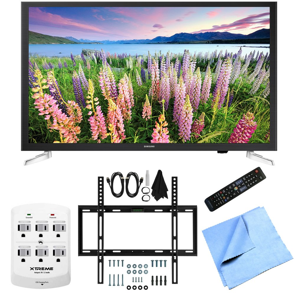Samsung UN32J5205 - 32-Inch Full HD 1080p Smart LED HDTV Slim Flat Wall Mount Bundle includes UN32J5205  ..