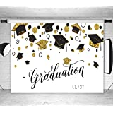 LB Graduation Party Backdrop for Photography Class of 2019 Congrats Grad and Graduation Cap Design Photo Booth Backdrop 9x6ft Fabric Customized Photo Backgrounds Studio Props (Color: White 737, Tamaño: 9'W x 6'H)