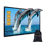 100 inch Outdoor Movie Projector Screen with Bag, GBTIGER 100