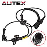 AUTEX 1pc ABS Wheel Speed Sensor Front Left/Right 6C3Z2C204BA ALS505 BRAB323 5S5896 695116 compatible with 2005 2006 2007 2008 2009 2010 Ford F-250 Super Duty F-350 Super Duty