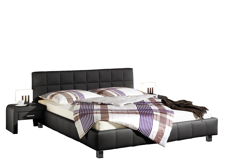 Maintal Betten 240193-4693 Polsterbett Java, 180x200 cm, Kunstleder, schwarz