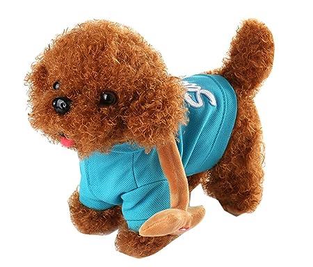 Peluche chant chien jouet cadeau de décoration