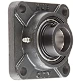 Hub City FB220DRWX1-1/4S Flange Block Mounted Bearing, 4 Bolt, Normal Duty, Relube, Eccentric Locking Collar, Wide Inner Race, Ductile Housing, 1-1/4