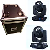 Ahlights 7R 230W Beam Stage Moving Head Light, DMX512 Channel Control, 14 Gobos and 14 Colors with Rainbow Effect For Stage Disco Club Lighting (2Pcs With Flight Case) (Tamaño: 2pack)