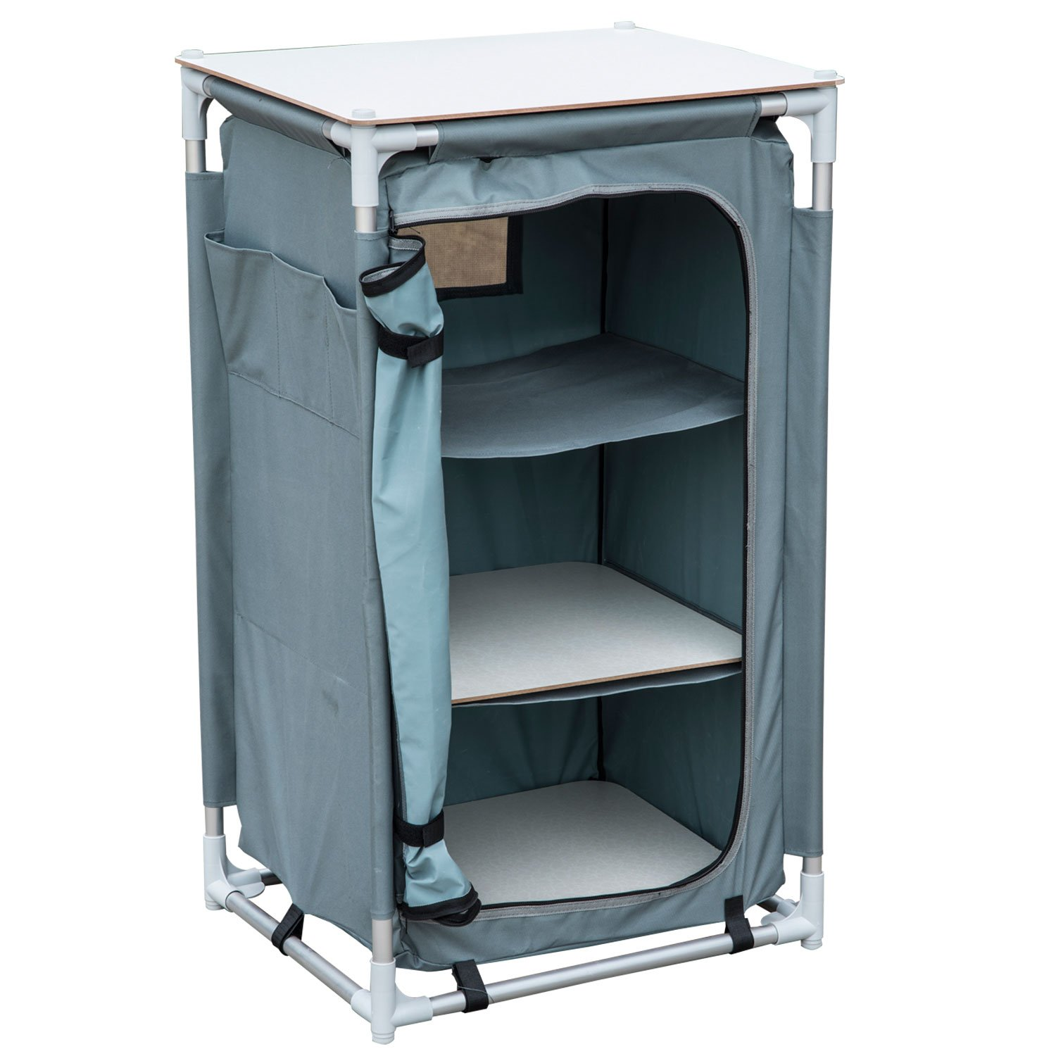 Storage Portable Furniture : Outsunny quot tier aluminum portable camping