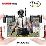 Mobile Game Controller (Newest Version), WXGH Sensitive Shoot and Aim Buttons L1R1 Rules of Survival, Cell Phone Game Controller for Android/iOS (A(1pair Controller)) (Color: A(1pair Controller))
