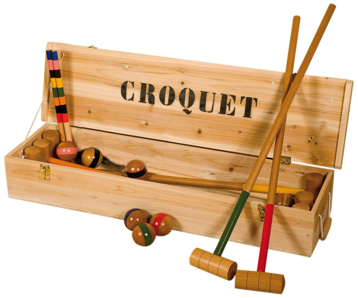 jeu croquet bois. Black Bedroom Furniture Sets. Home Design Ideas