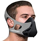 Aduro Sport Workout Training Mask - for Running Biking Training and Fitness, Achieve High Altitude Elevation Effects with 4 Level Air Flow Regulator [Peak Resistance] - GRAY