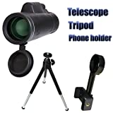 Monocular Telescope,UTPTOOL 40x60 Zoom Outdoor Telescope Monocular Military Watching Camping Hunting Hiking Wildlife Monoculars(Black)