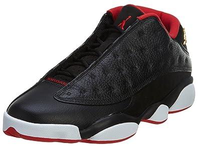 Jordan Men\\u0026#39;s Air 13 Retro Low, BLACK/METALLIC .