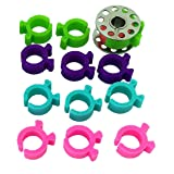 PeavyTailor 12pcs Bobbin Buddies Bobbin Holder Clamps Clips for Embroidery Quilting Sewing Thread