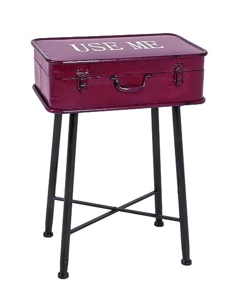 HAKU Möbel 27919 tavolino, 53 x 24,5 x 54,5 cm, vintage/rosso