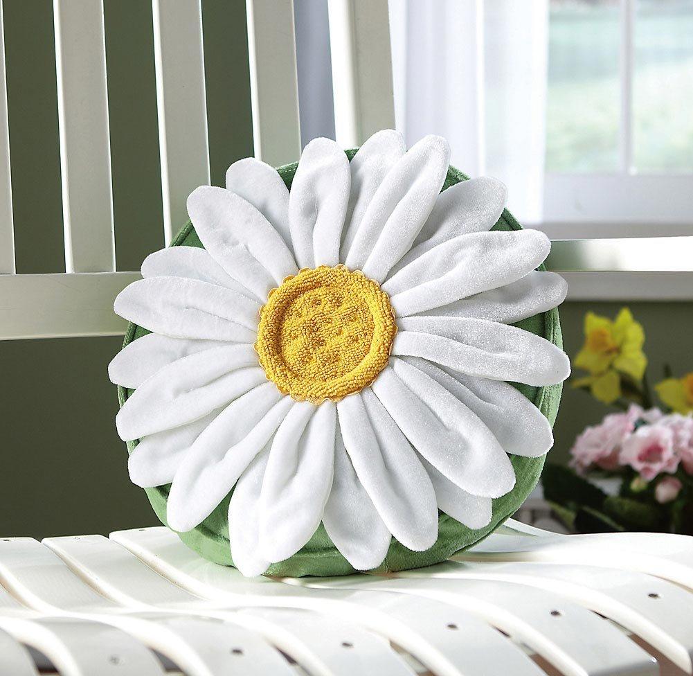 Daisy Flower Shaped Decorative Throw Pillow