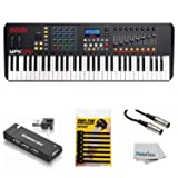 Akai Professional Compact Keyboard Controller (61-Key) with 4-Port USB 2.0 Hub + MIDI Cable Pack of Cable ties & Cleaning Cloth (Tamaño: 61-Key)