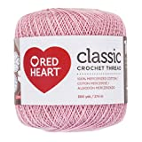 Coats Crochet Classic Crochet Thread, 10, Orchid Pink (Color: Orchid Pink, Tamaño: 10)