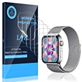 LK [6 Pack] Screen Protector for Apple Watch 38mm Series 3 2 1 - Max Coverage Bubble-Free Anti-Scratch iWatch 38mm Flexible TPU Film with Lifetime Replacement Warranty