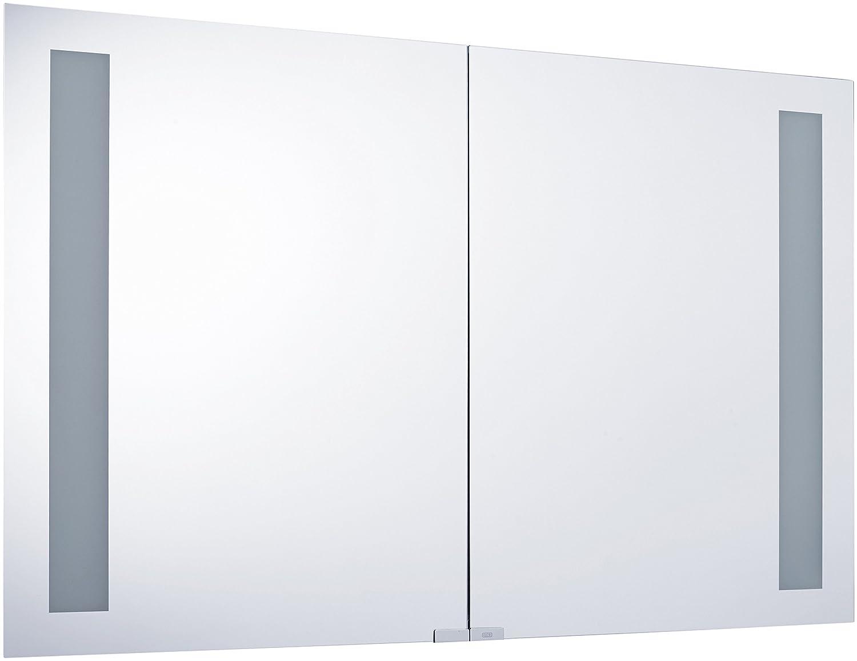 Emco 979705036 Lichtspiegelschrank Asis Premium 1000 mm mit 2 Leuchten alu glas als Aufputzversion