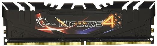Mémoire PC - G.Skill RipJaws 4 Series Noir 16 Go (2x 8 Go) DDR4 3000 MHz CL15 - Kit Dual Channel 2 barrettes de RAM DDR4 PC4-24000 - F4-3000C15D-16GRK (garantie 10 ans par G.Skill)