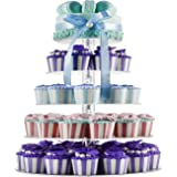 5 Tiers Round Acrylic Cupcakes Stands Holders, Clear Wedding Cakes Stand, Large Pastry Cupcake Tower Stand for 50 60 cupcakes, Cupcake Tree, Cupcake Display DYCacrlic(Unique Bubble Party Decorations) (Color: Clear, Tamaño: 5 Tier)