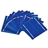 Aoshike 100pcs 52 x 52mm/2x2inches micro mini Solar cells panels 0.5V 0.46W Polycrystalline Silicon Solar panels DIY Cell Phone Charging Battery