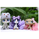 LPSFREE LPS Dachshund 909 LPS Collie 1676 LPS Great Dane 1688 Dog with Accessories Lot Kids Girls Gift Set