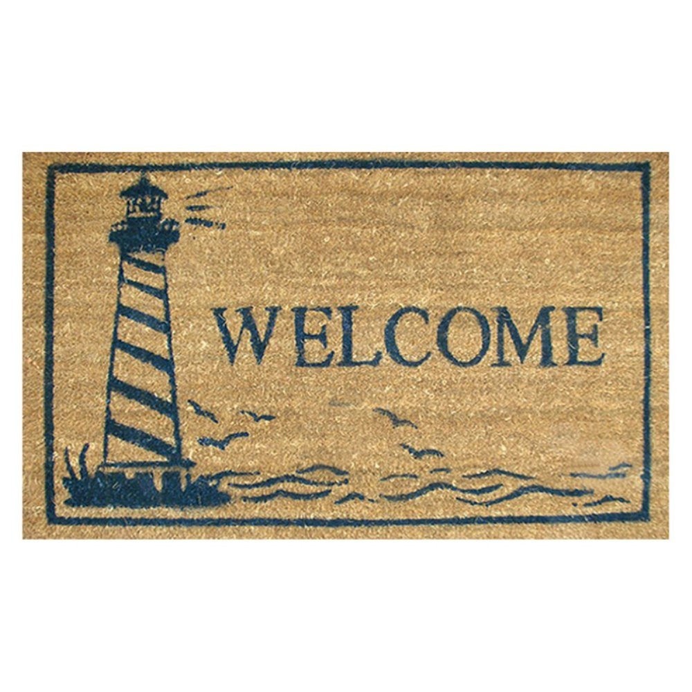 Home   More 12024 Lighthouse Doormat. Nautical Rugs for Decorating Home with Beach Theme