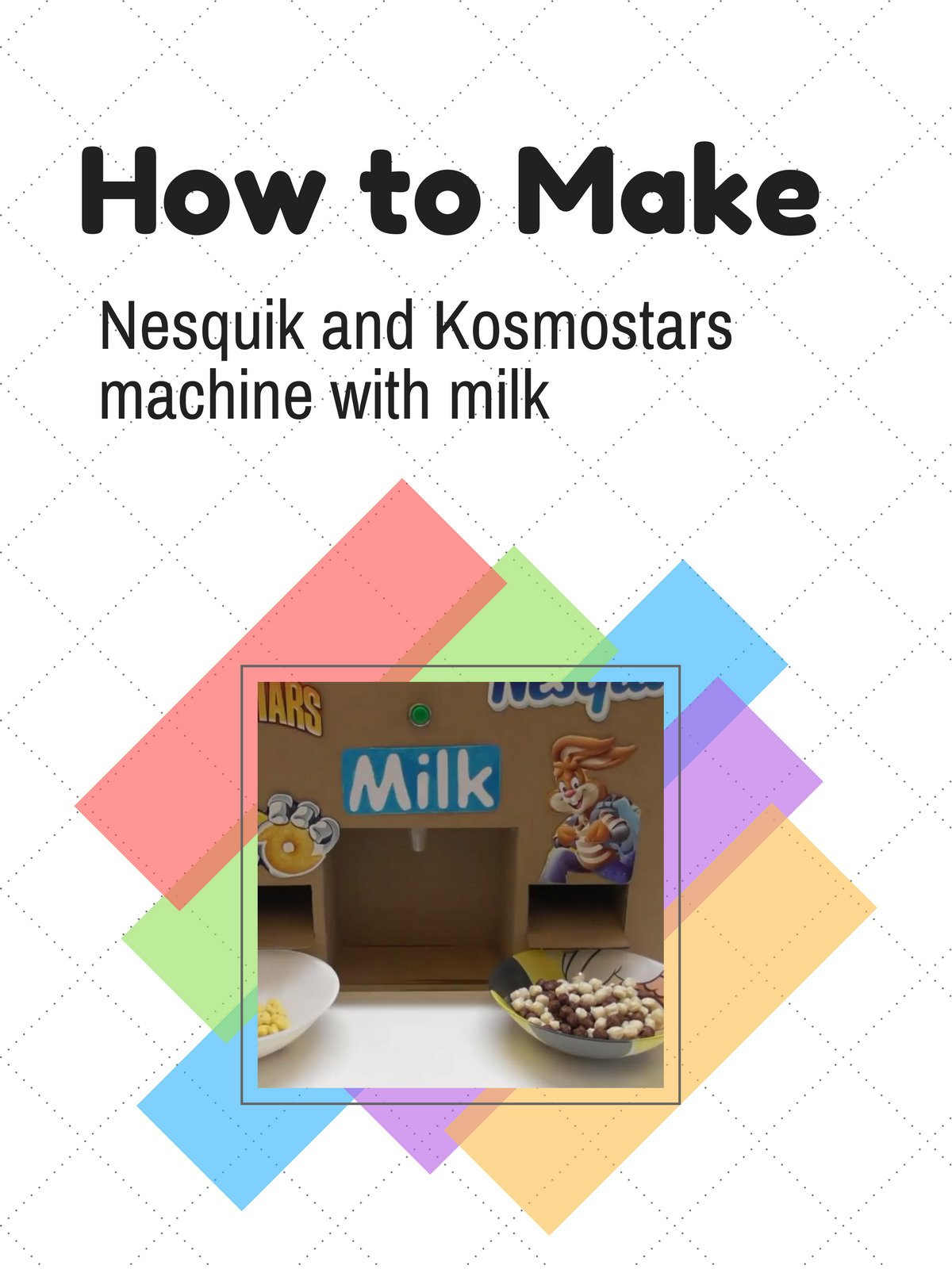 How to make Nesquik and Kosmostars machine with milk