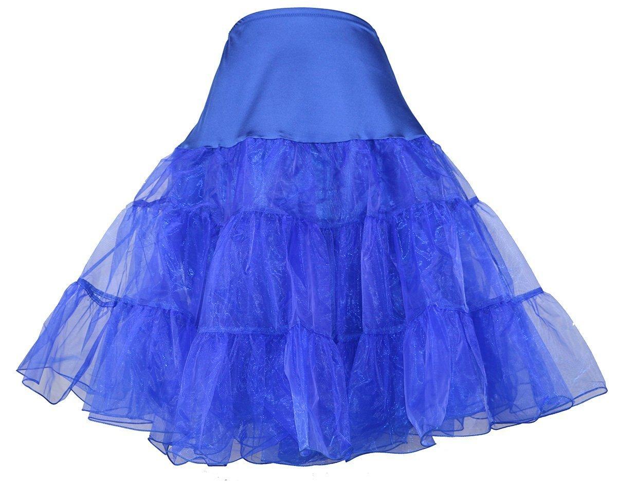Dunkelblau-Weinlese-50s Rockabilly Krinoline Ballettröckchen-Rock Petticoat Rock für Halloween (SM Größe) günstig online kaufen