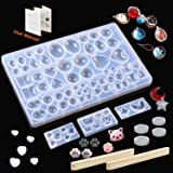 8 Pack Resin Molds JOFAMY Jewelry Making Molds Kit, Resin Jewelry Molds for Epoxy Resin, UV Resin, Clay,Resin Silicone Molds for Jewelry Making, Ring, Pendant, Bracelet, Earrings DIY Making (Color: Clear)