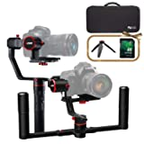 FeiyuTech a2000 3-Axis DSLR Camera Gimbal, Dual Handheld KIT, Upgrade Version, Payload Upgrade to 250-2500g, Compatible with Nikon/Sony/Canon Series Camera and Lens, with Case & 32 GB SD Card (Tamaño: A2000KIT)